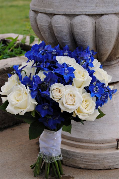 wedding bouquets  pinterest blue delphinium