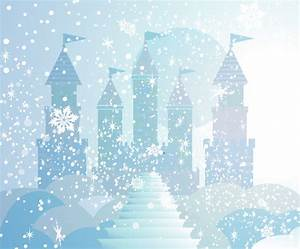 Princess Backdrop WINTER CASTLE 6 Ft X 5 Ft Vinyl Backdrop for