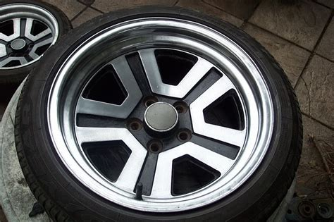 Mitsubishi Starion Wheels by 5 Stud 16 X 8j Et 10 Dish Polished Starion Wheels