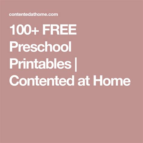 printables  preschool  images