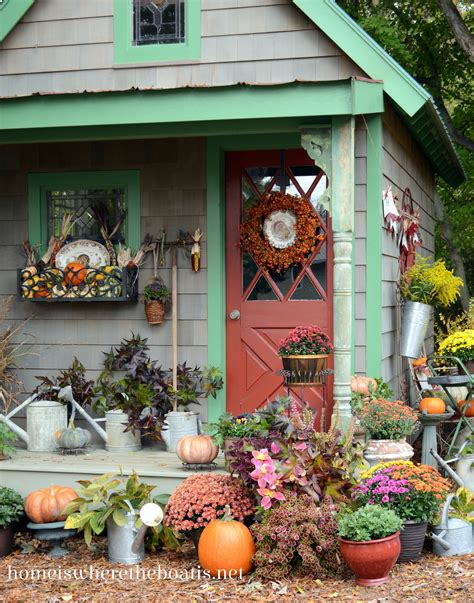 Fall Potting Shed Inspiration Quaint Garden Sheds