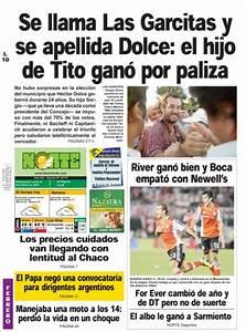 Journal Diario Norte  Argentine   Les Unes Des Journaux De Argentine   U00c9dition Du Lundi  10 De