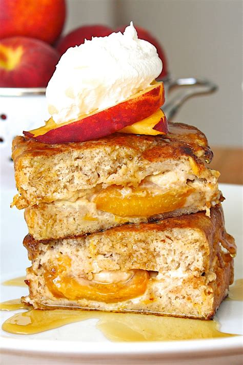Stuffed Peach Bread French Toast The Bakermama