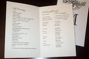 pick the best sample wedding programs cbertha fashion With image of wedding program