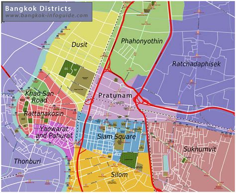 image result  map  bangkok districts travel bkk