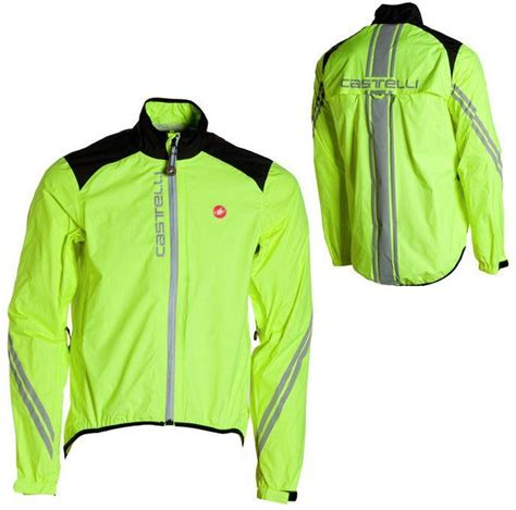 road cycling rain jacket castelli men 39 s goccia road bike cycling fluorescent