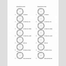 Spanish Telling Time ¿qué Hora Es? Notes Sheet And Worksheets By Megan Lynch