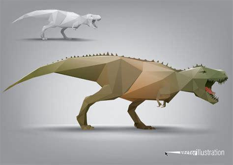 dinosaur triangle polygon model vector ai svg eps