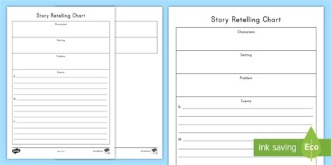 Story Retelling Worksheet / Activity Sheet