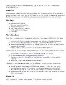 resume for application to nursing school professional school templates to showcase your talent myperfectresume