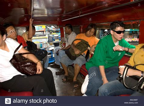 jeep philippines inside philippines manila jeepney interior stock photo royalty