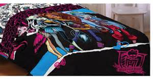 monster high dolls ghouls rule twin bed comforter