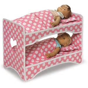 badger basket doll travel with bunk bed and bedding pink fits most 18 quot dolls