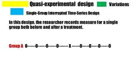 interrupted time series design quasi experimental research design