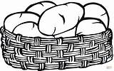 Potato Coloring Potatoes Pages Basket Printable Drawing sketch template