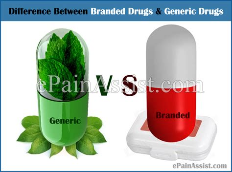 Difference Between Branded Drugs and Generic Drugs