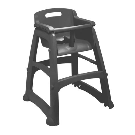 rubbermaid fg780608bla 29 75 quot stackable high chair w