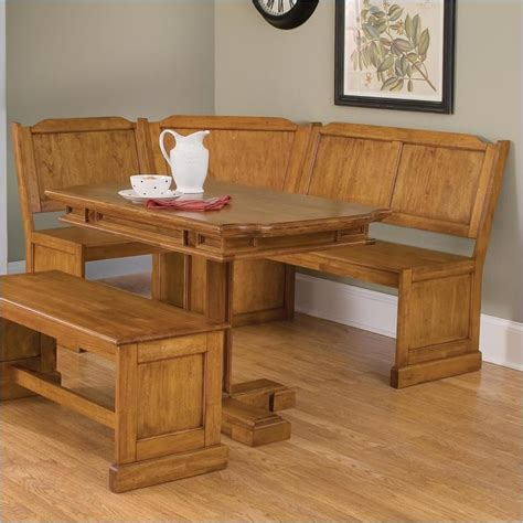 corner kitchen dining table home styles wood kitchen dining nook corner bench