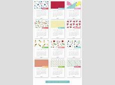 Monthly Printable Calendar 2017 Канцтовары Calendar
