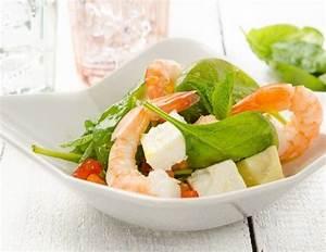 Salat Mit Spinat : schneller spinat melonen salat mit garnelen rezept ~ Orissabook.com Haus und Dekorationen