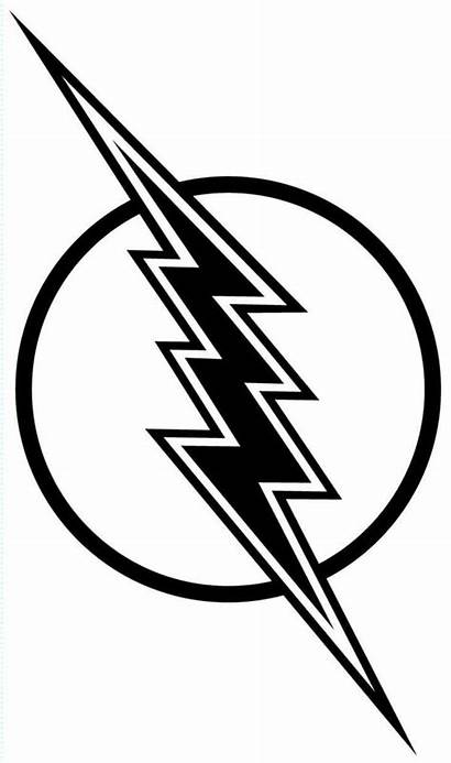 Flash Lightning Bolt Coloring Clipart Lighting Gordon