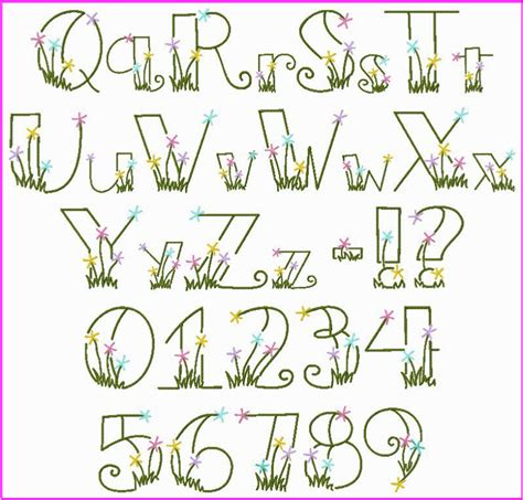 flower letters font images flower fonts alphabet