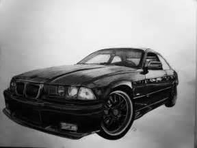 Pencil Car Drawings BMW