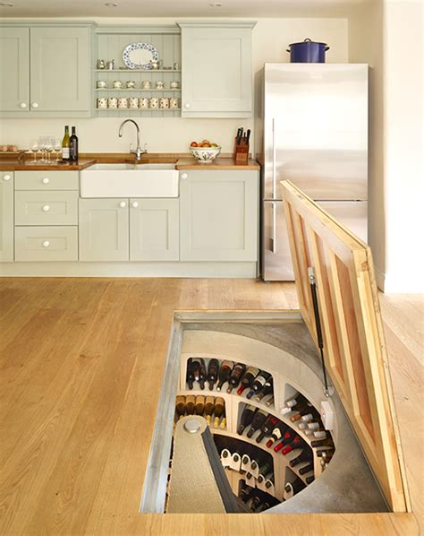 wine cellar in kitchen floor 8 strangely satisfying kitchen compartments 1904