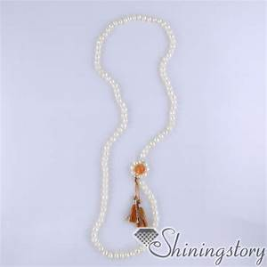 mala bead necklace cultured freshwater pearl necklace 108