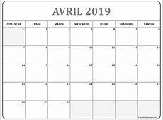 avril 2019 calendrier imprimable calendrier gratuit