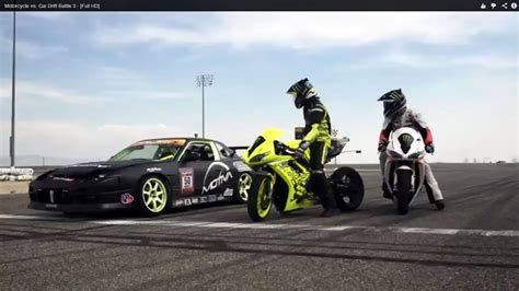 Motorcycle vs. Car Drift Battle 3 - YouMotorcycle