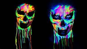 NEON SKULL Black Light UV Makeup Tutorial | 31 Days of ...