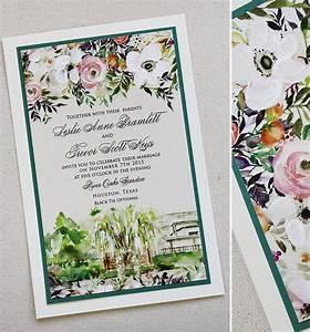 leslie b watercolor wedding day accessoriesmomental designs With wedding invitation venue picture