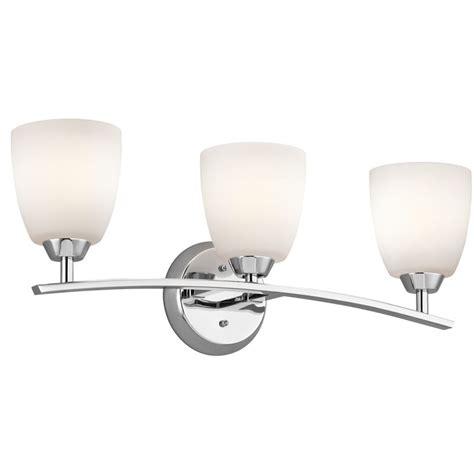 kichler 45360ch chrome granby 24 91 quot wide 3 bulb bathroom