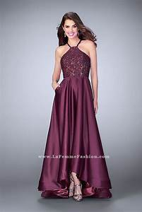 00 Size Chart La Femme 24012 Prom Dress Prom Gown 24012