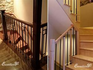 Main Courante Escalier Intérieur : escalier sc installateur d 39 escalier sur mesure en bois franc ~ Edinachiropracticcenter.com Idées de Décoration