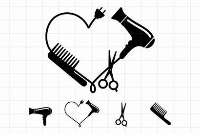 Scissors Svg Comb Dryer Hairdresser Cut Stylist