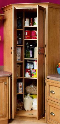 Corner Pantry Cabinets For Kitchen by The Organized Kitchen From Design Basics And Home Magazine