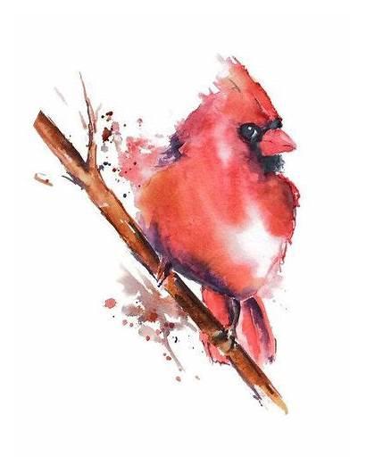 Tattoo Cardinal Watercolor Bird Paintings Tattoos Tree