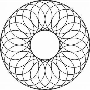 24 Overlapping Circles About A Center Circle And Inside A