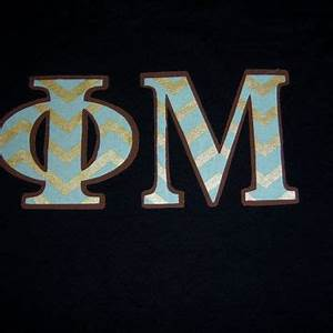 phi mu sorority stitch shirt greek letter from With phi mu stitched letters