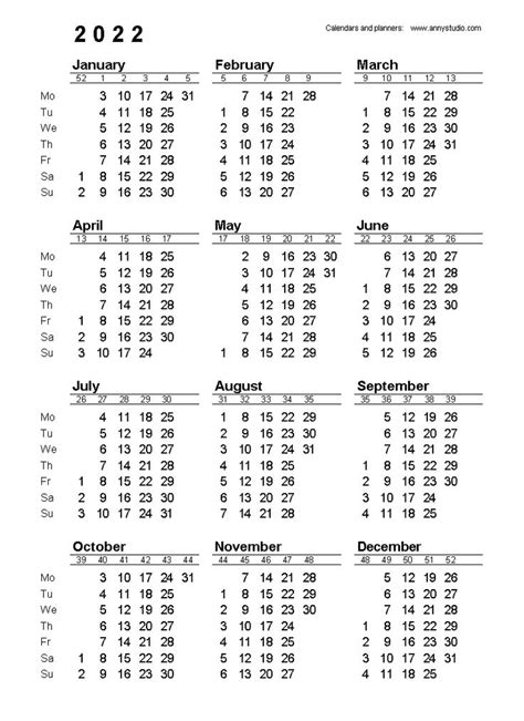Free Printable Calendars and Planners 2020, 2021, 2022 ...