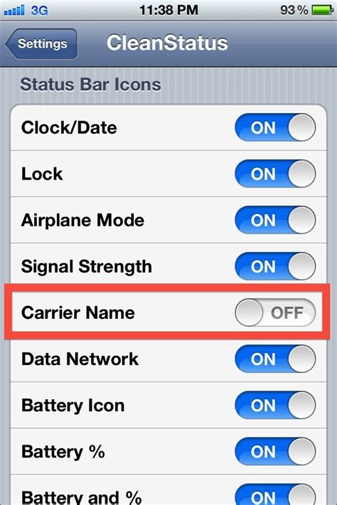 iphone carriers how to hide carrier name in your iphone s status bar