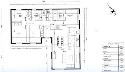 photo quot plan de maison en l 3 chambres 1 bureau quot plans