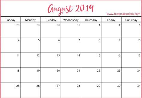Blank Calendar 2019 In Excel