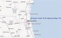 Simpson Creek, A1A highway bridge, Florida Tide Station ...