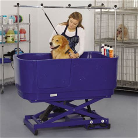 groomers tub master equipment polypro lift grooming tub clipper