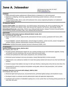 systems administrator resume sample entry level resume With entry level healthcare administration resume