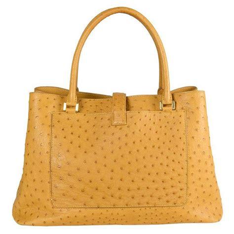 loro piana yellow ostrich bellevue bag  stdibs