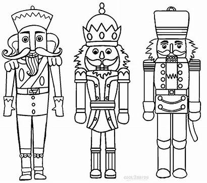 Coloring Pages Nutcracker Nutcrackers Printable Cool2bkids